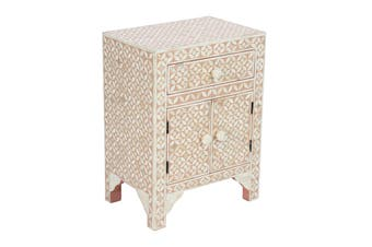 Matt Blatt Patsy Bone Inlay Bedside Table
