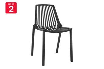 Matt Blatt Set of 2 Sawyer Dining Chair (Black)