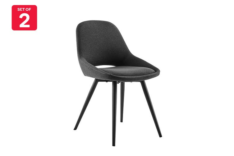 Matt Blatt Set of 2 Spencer Dining Chair (Dark Grey)