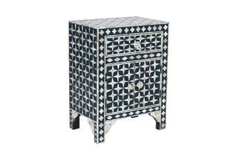 Matt Blatt Starlight Mother of Pearl Bedside Table