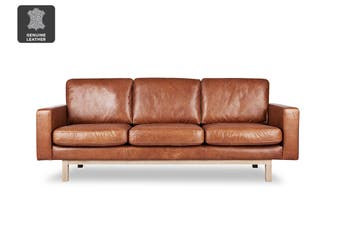 Matt Blatt United Strangers Captain June 3 Seater (Texan Light Brown Leather)