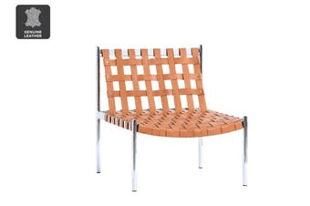 Matt Blatt United Strangers Kennedy Occasional Chair (Chestnut Brown Leather)