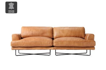 Matt Blatt United Strangers Manhattan 3 Seater Sofa (Texan Light Brown Leather)