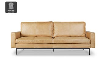 Matt Blatt United Strangers Slim Jim 3 Seater Sofa (Sahara Tan Leather)