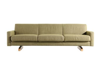 Matt Blatt United Strangers Tahi 3 Seater Sofa (Boske Felt Green Fabric)