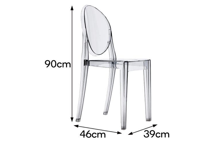 Matt Blatt Set of 2 Philippe Starck Victoria Ghost Chair Replica (Smoke)