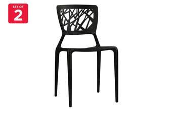 Matt Blatt Set of 2 Dondoli and Pocci Viento Chair - Replica (Black)