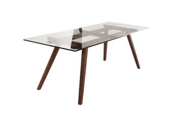 Matt Blatt Williamsburg Dining Table (Glass, Walnut)