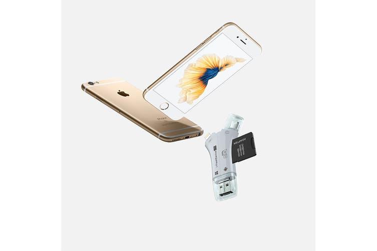 4-in-1 Portable SD Card Reader