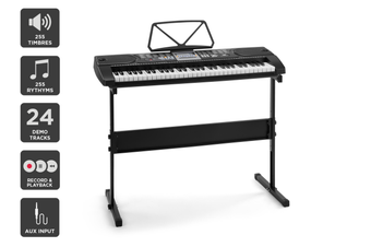Royale 61 Key Electronic Piano Keyboard & Stand