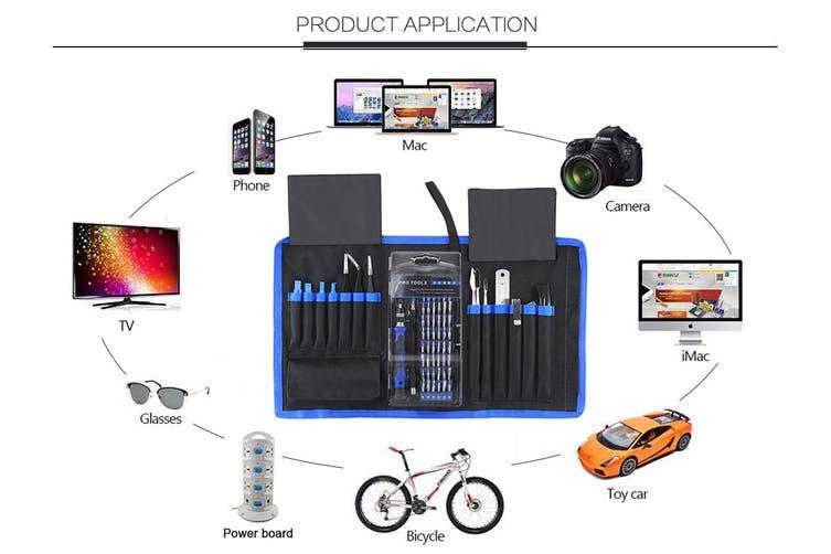 80 Piece Professional Electronics Repair Kit