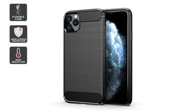 Carbon Fibre Design Soft TPU Case for iPhone 11 Pro Max (Black)