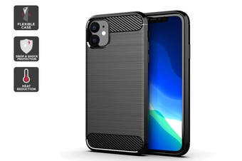 Carbon Fibre Design Soft TPU Case for iPhone 11 (Black)