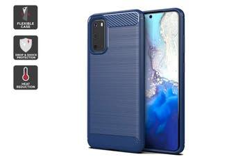 Carbon Fibre Design Soft TPU Case for Samsung Galaxy S20 (Navy)