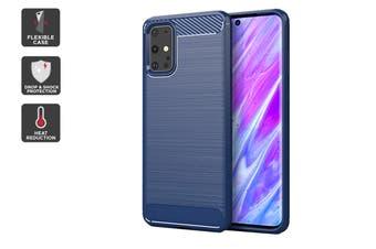 Carbon Fibre Design Soft TPU Case for Samsung Galaxy S20+ (Navy)