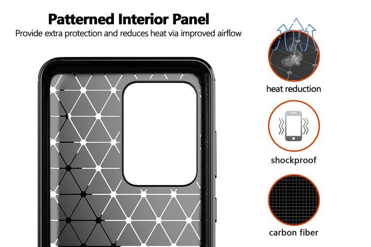 Carbon Fibre Design Soft TPU Case for Samsung Galaxy S20 Ultra (Black)