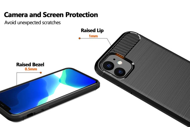 Carbon Fibre Design Soft TPU Case for iPhone 11 (Black)
