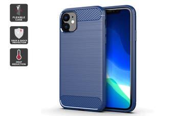 Carbon Fibre Design Soft TPU Case for iPhone 11 (Navy)
