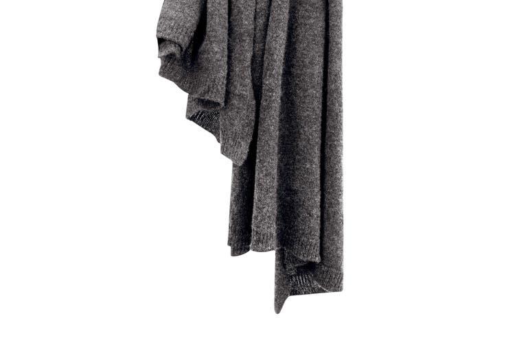 100% Mongolian Cashmere Wrap (200 x 75cm, Charcoal Melange)