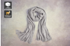 100% Mongolian Cashmere Wrap (200 x 75cm, Grey Melange)