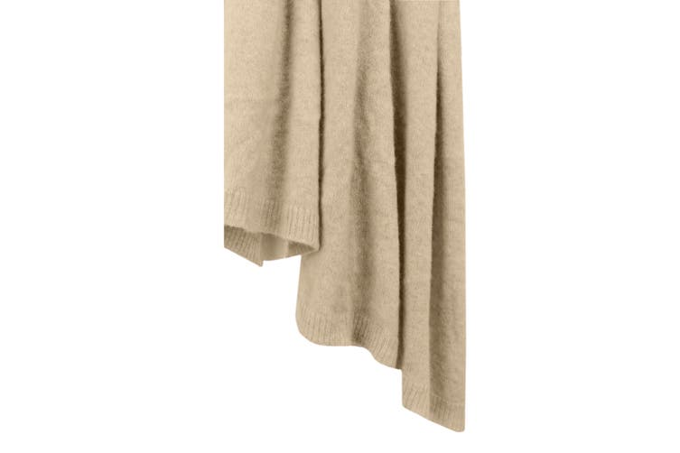 100% Mongolian Cashmere Wrap (200 x 75cm, Oatmeal Melange)