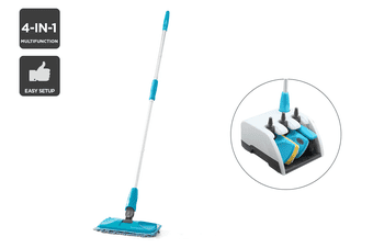 Convertible Broom Mop Duster Cleaning Dock