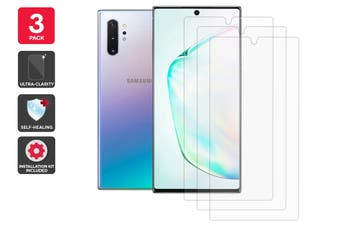 Hydrogel Self-Healing Screen Protector for Samsung Galaxy Note 10 Plus (3 Pack)