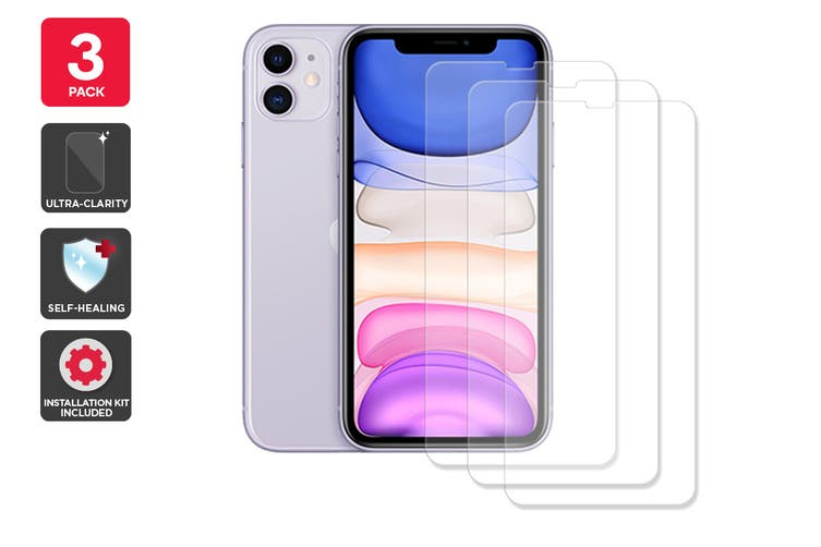 Hydrogel Self-Healing Screen Protector for iPhone 11 (3 Pack)