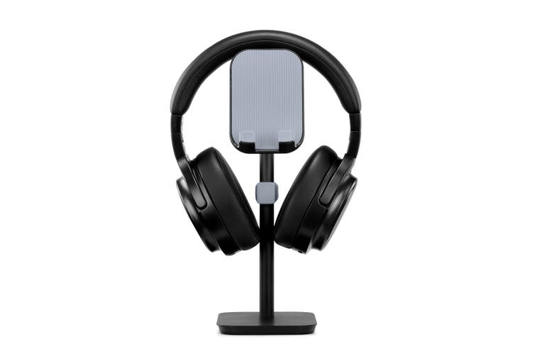 Aluminium Alloy Headphone Stand with Phone & Tablet Holder (Black)