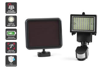 Solar Powered Motion Sensor LED Flood Light (1800 mAh, 100 LED)