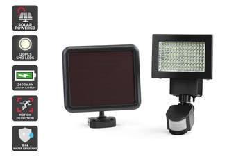 Solar Powered Motion Sensor LED Flood Light (2400mAh, 120 LED)