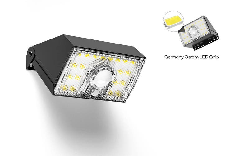 Solar Powered Motion Sensor Mini LED Flood Light (2000mAh) - 2 Pack