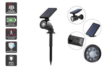 Solar Powered Motion Sensor LED 2-in-1 Spot Light (Black, Tanimi)