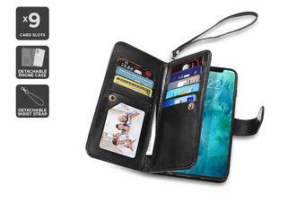 Leather Wallet Flip Case Cover for Samsung Galaxy S9+
