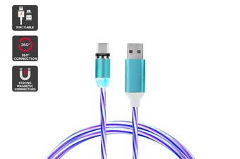 3 in 1 Magnetic Light-Up Cable (Blue)