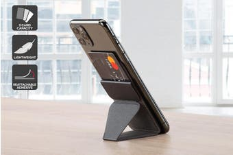 Micro Wallet Foldaway Magnetic Phone Stand (Black)