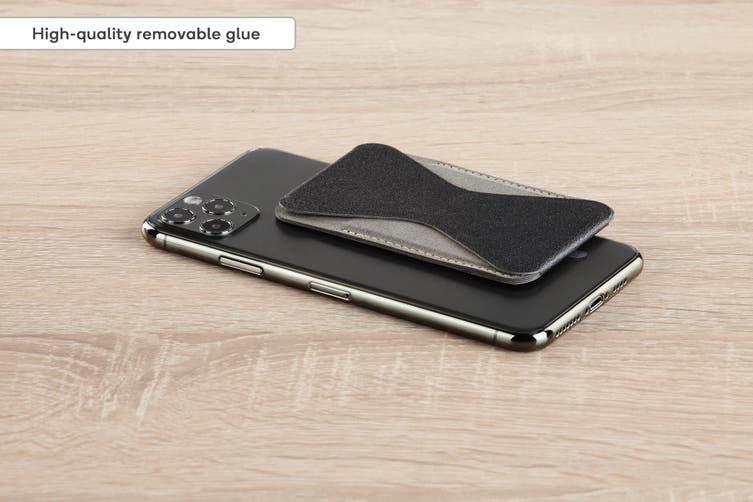 Micro Wallet Foldaway Magnetic Phone Stand (Black)