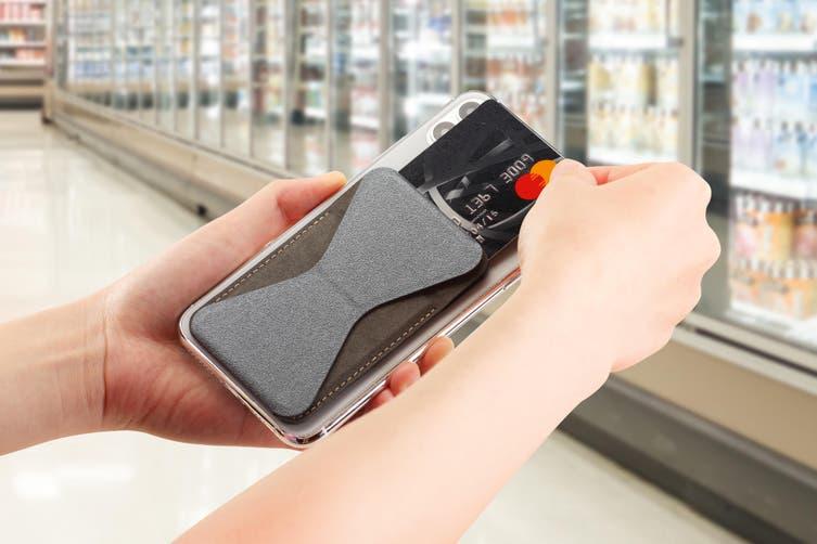 Micro Wallet Foldaway Magnetic Phone Stand (Grey)