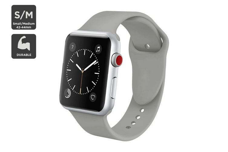 Silicone Band for Apple Watch 42/44mm S/M (Grey)