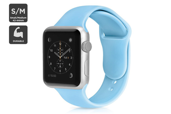 Silicone Band for Apple Watch 42/44mm S/M (Light Blue)