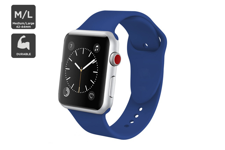 Silicone Band for Apple Watch 42/44mm M/L (Navy)