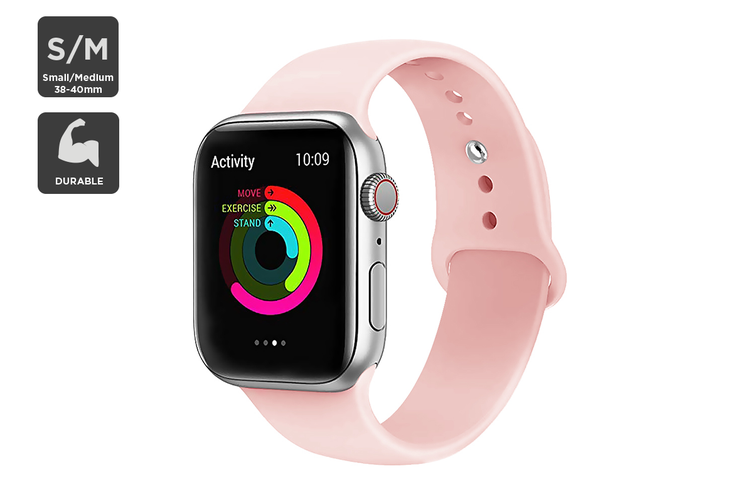 Silicone Band for Apple Watch 38/40mm S/M (Pink)