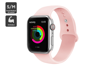 Silicone Band for Apple Watch 42/44mm S/M (Pink)
