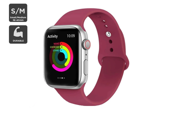 Silicone Band for Apple Watch 38/40mm S/M (Wine Red)