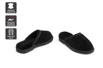 Outback Ugg Slippers Barwon - Premium Sheepskin (Black, Size 13M / 14W US)