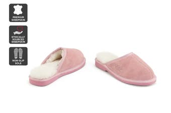 Outback Ugg Slippers Barwon - Premium Sheepskin (Pink, Size 5M / 6W US)