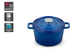 Ovela Cast Iron Casserole Dish 2.5L (Blue)