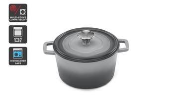 Ovela Cast Iron Casserole Dish 2.5L (Grey)