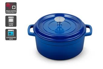 Ovela Cast Iron Casserole Dish 5L (Blue)