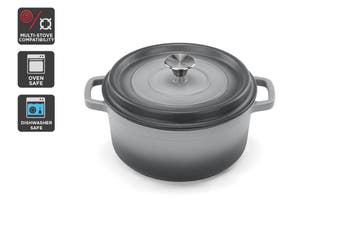 Ovela Cast Iron Casserole Dish 5L (Grey)